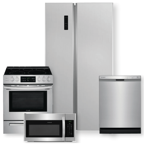 FRIGIDAIRE 18.8 Cu. Ft. 36'' Counter-Depth Side-by-Side Refrigerator Package- Minor Case Imperfections