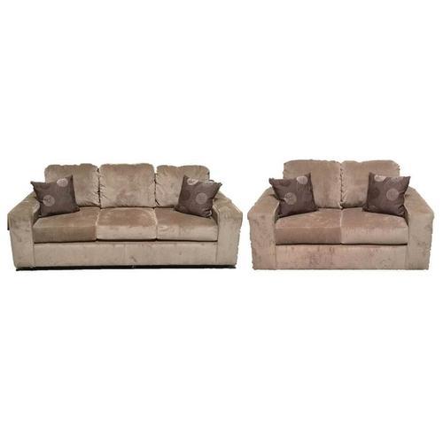 V-dub Furniture - 2 Piece Sofa & Love Seat Beige
