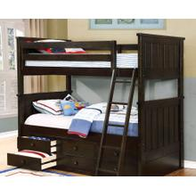 Belfort Twin over Twin Bunk Bed with Waterford Captains - Graphite Grey