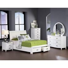 Lyric Qn Storage Bed, Dresser, Mirror and Nightstand