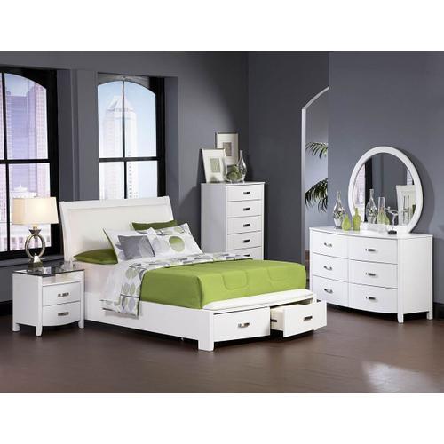 Lyric Qn Storage Bed, Dresser, Mirror and Nightstand