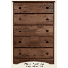 View Product - 5 Drawer Chest Aspen Oak