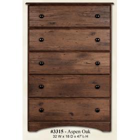See Details - 5 Drawer Chest Aspen Oak