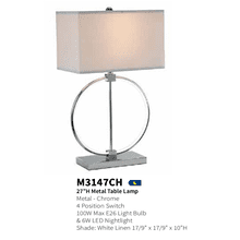 View Product - Anthony Of California Contemporary Table Lamp M3147CH Circle of Life LED