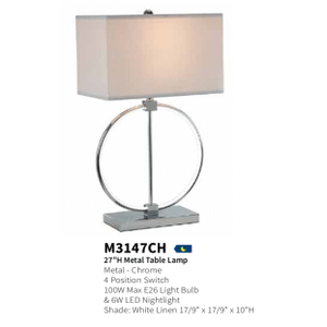 Anthony California - Anthony Of California Contemporary Table Lamp M3147CH Circle of Life LED