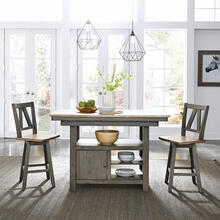 KITCHEN ISLAND & 4 STOOLS