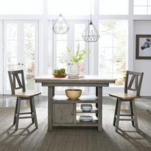 KITCHEN ISLAND & 2 STOOLS