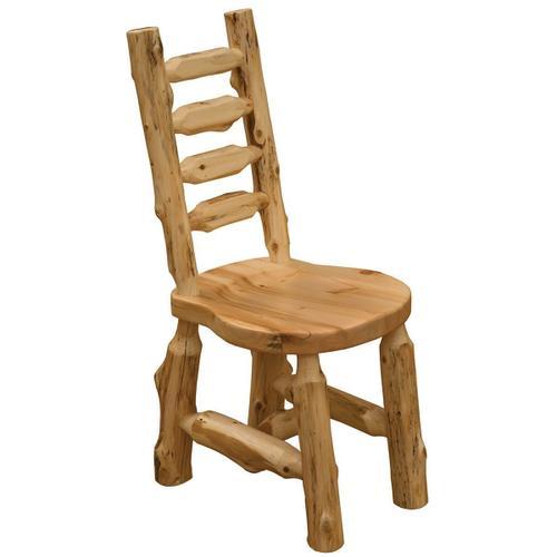 Solid Wood Cedar Log Side Chair