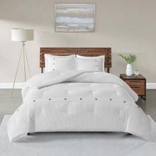 Finley 3 Piece Queen Cotton Waffle Weave Comforter Set