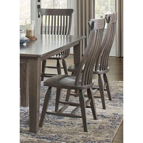 Amish-made Dining Table and 6 Ebony Side Chairs