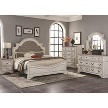 LIFESTYLE C8023A 045-050-QXOF9XGRX-QXG-BXN River Manor 3-Piece Bedroom Group - Queen Bed, Dresser & Mirror