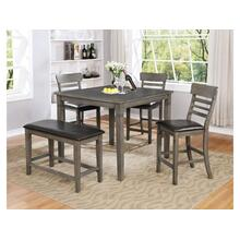 5 Piece Pub Set - Grey Finish
