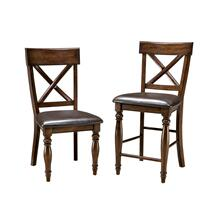 "Kingston - Bar Stool, 24"" X-Back w/PU"