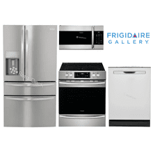 """See Details - Frigidaire Gallery 36"""" COUNTERDEPTH 4 DOOR FRENCH I&W - FRONT CONTROL RANGE"""