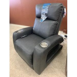 Southern Motion Zero Gravity Recliner with power headrest . Power Heat & Message . 35W x 42D x 42H in . Surreal Graphite (Leather/Vinyl)
