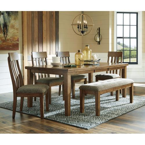 Flaybern Dining Table and 4 Side Chairs