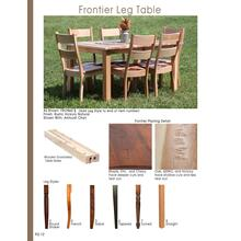 Frontier Leg Table