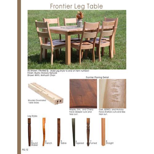Door County Furniture - Frontier Leg Table