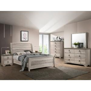 Patterson Kg Bed, Dresser, Mirror, Chest and Nightstand
