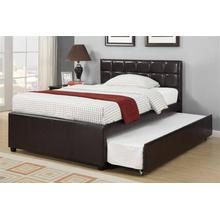 Espresso Full Size Bed with Twin Size Trundle