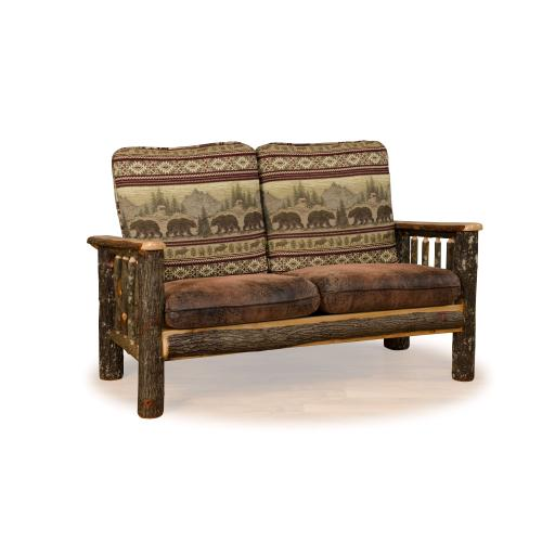 Brage Rustic Collection - Hickory Love Seat