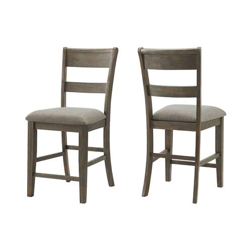 Vilo Home - Hillcrest, Counter Height 6 Pc Dinette Set Brown and Grey Mixed Wood By Vilo Home, Model 4300