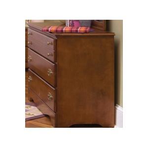Common Sense Cherry 3 Drawer Single Dresser