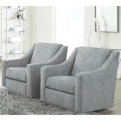 Jackson Furniture - Fashion Cuddler Swivel Chair Shark