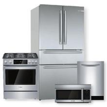 See Details - 800 Series French Door Bottom Mount Refrigerator & Dual Fuel Slide-in Range Package