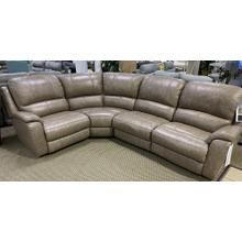 Bassett Godfrey Power Reclining Sectional w/ Power Headrest