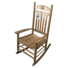 Engraved Maple Porch Rocker