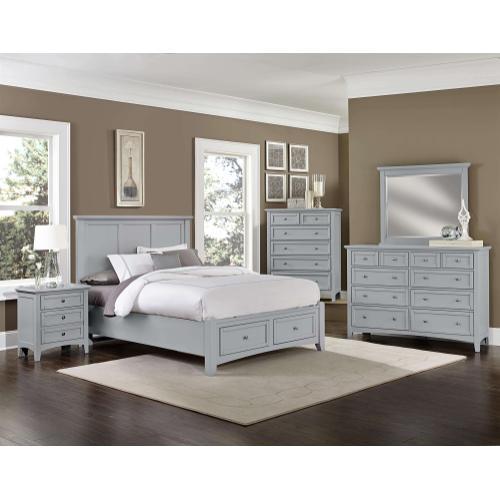 Vaughan-Bassett - Queen Grey Mansion Bed