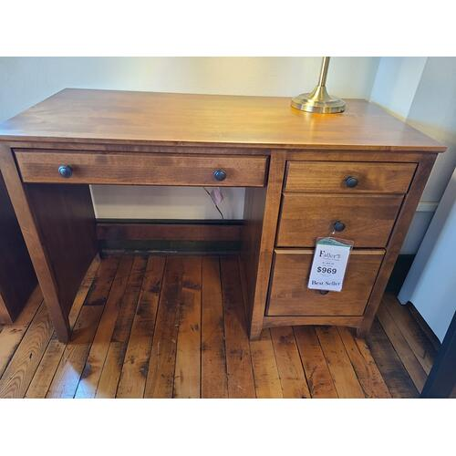 Archbold Furniture - 4 Drawer Desk - Tuscan Brown