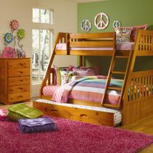 Honey Twin over Full Bunk Bed