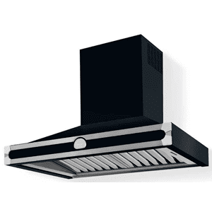 Lacornue Cornufe - Dark Navy Blue Albertine 90 Hood with Satin Chrome Accents