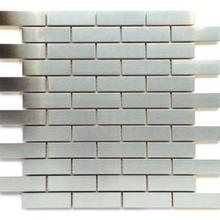 Stainless Steel Brushed Metal Mosaic 7/8x2 7/8