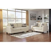 Ashley Abinger Sofa and Loveseat in Natural.  100% Polyester . CC:  WS