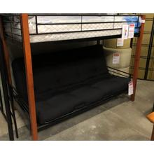 Twin/Full Futon Bunk Bed - Detachable To Make Individual Bed And Futon