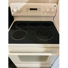 """See Details - USED- GE® 30"""" Free-Standing Electric Convection Range  E30WHGLAS-U  SERIAL #81"""