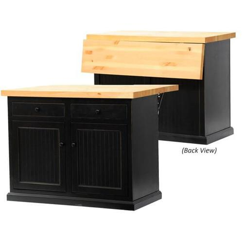 American Heartland Manufacturing - Poplar Kitchen Island with Choice of Flip-Up Top