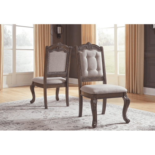 Charmond - Brown - 9 Pc. - Rectangular Extension Table, 6 Upholstered Side Chairs & 2 Upholstered Arm Chairs