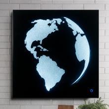 Adamas Globe Wall Art with LED