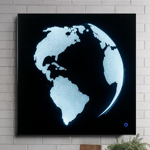 Adamas Globe Wall Art with LED