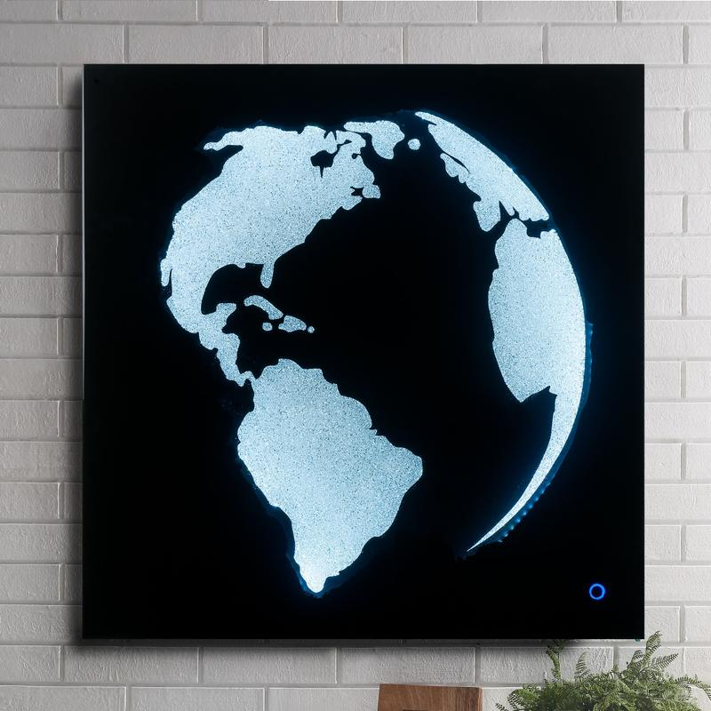 View Product - Adamas Globe Wall Art with LED