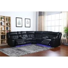 See Details - Amazon Black - Power Reclining Sectional