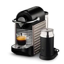 See Details - Nespresso by Breville Pixie Espresso Machine with Aeroccino Milk Frother, Titan