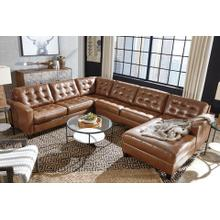 Baskove 4 Piece Leather Sectional