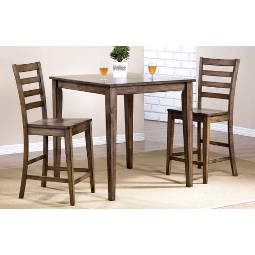 Rustic Square Tall Table