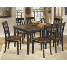 Owingsville - Black/Brown - 7 Pc. - Rectangular Table & 6 Side Chairs