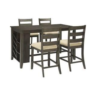 Rokane 5 Piece Counter Height Dining Set